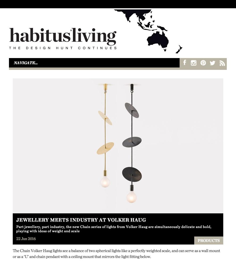 Studio Profile Volker Haug Lighting Diagram Jewelry Habitus Living June 2016
